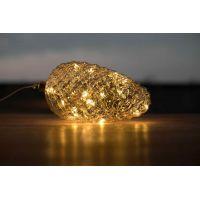 Marimex Crystal Závěsná Zlatá Šiška 22 cm 6