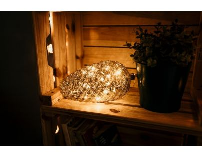 Marimex Crystal Závěsná Zlatá Šiška 22 cm