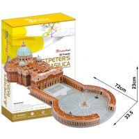CubicFun 17C092 - 3D Puzzle Bazilika sv. Petra, 144 dílků