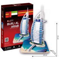 CubicFun 17C065 - 3D Puzzle Burj Al Arab,44 dílků