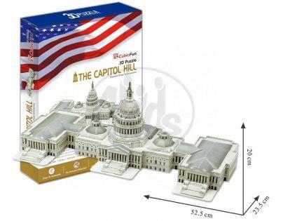 CubicFun  17C074 - Puzzle 3D Capitol Hill - 132 dílků