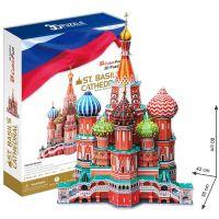 CubicFun 3D Puzzle Chrám Vasila Blaženého 214 dílků