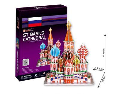 CubicFun 3D Puzzle Katedrála Vasila Blaženého 46 dílků