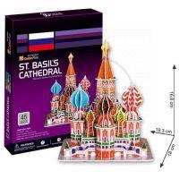 CubicFun 17C707- 3D Puzzle Katedrála Vasila Blaženého, 46 dílků