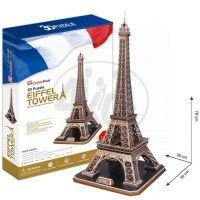 CubicFun 17C091 - 3D Puzzle Eiffelova věž, 82 dílků