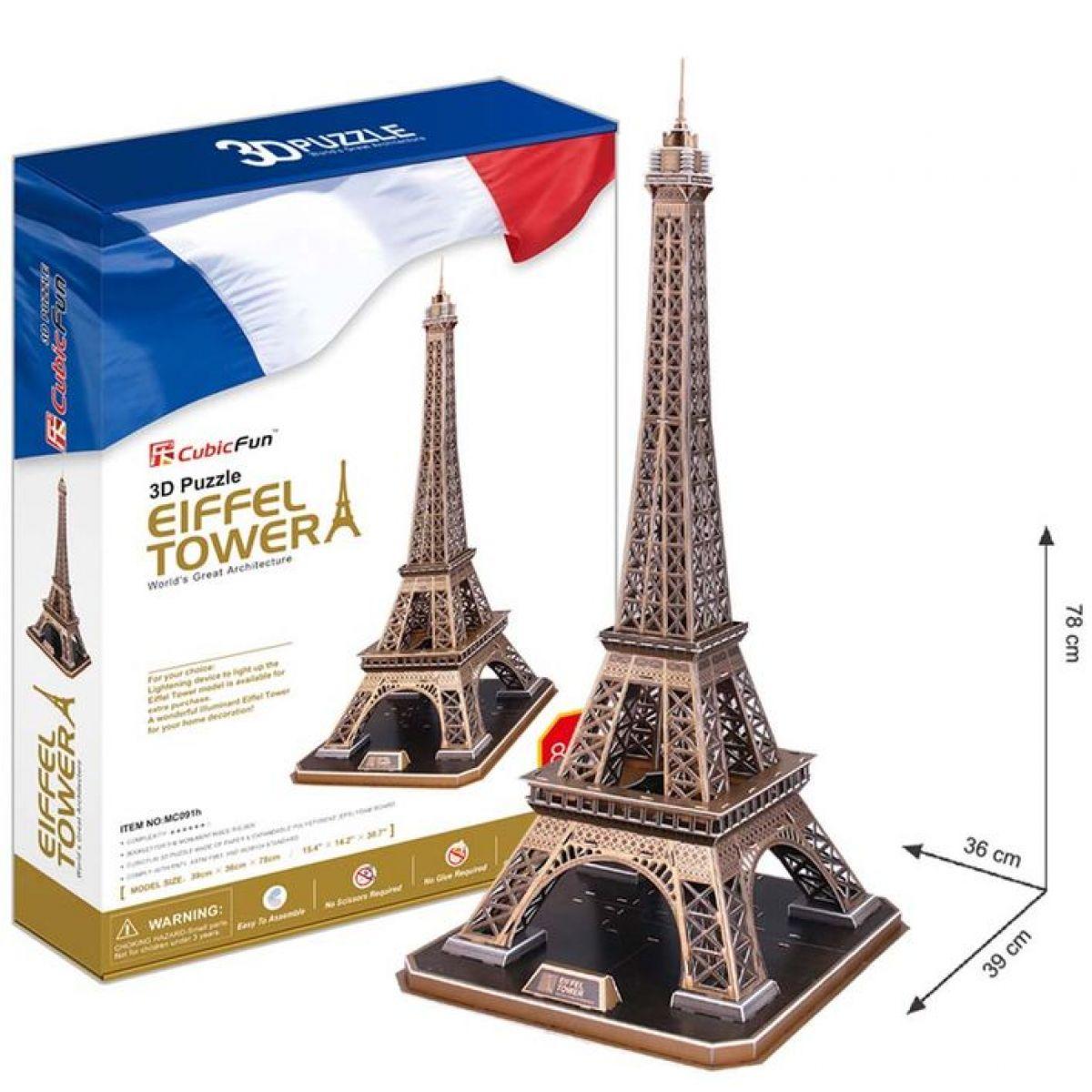 CubicFun 3D Puzzle Eiffelova věž 82 dílků