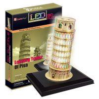 CubicFun Puzzle 3D Šikmá věž LED 15 dílků