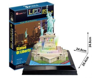 CubicFun Puzzle 3D Socha Svobody LED 37 dílků
