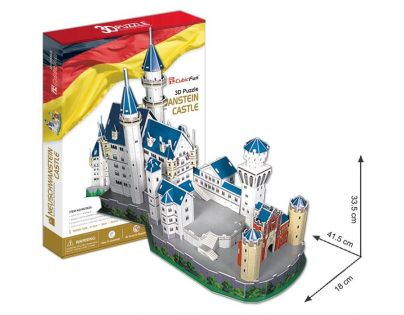 CubicFun 17C062 - 3D Puzzle Zámek Neuschwanstein, 98 dílků