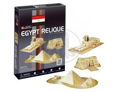 CubicFun 17C077 - Puzzle 3D Egyptské památky – 30 dílků