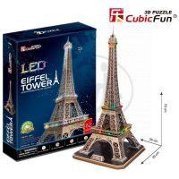 CubicFun 17C-L091 - Puzzlev 3D Eiffelova věž / led - 82 dílků