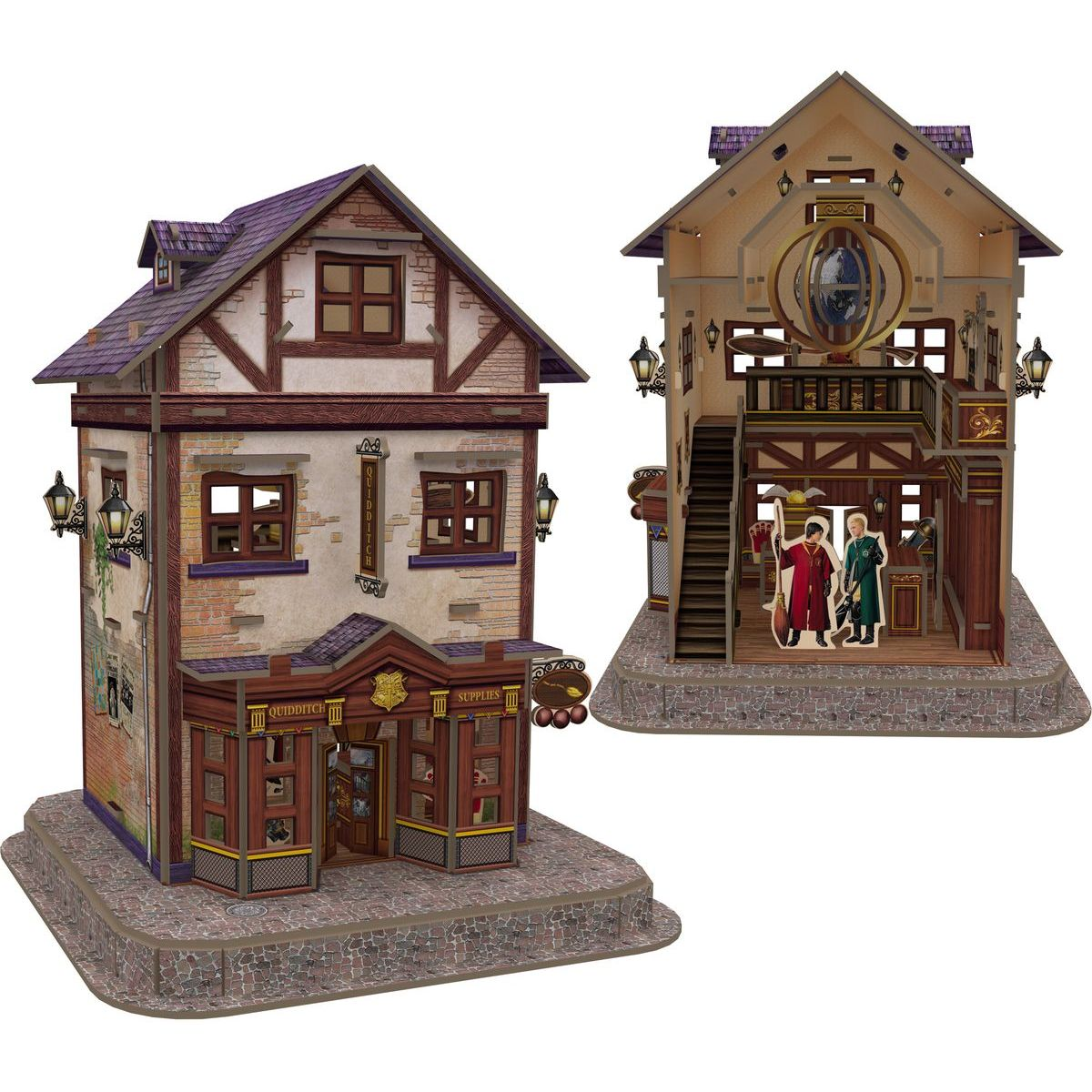 CubicFun Puzzle 3D Harry Potter Šikmá ulička Quality Quidditch ™ 71 dielikov