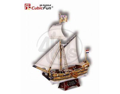 CubicFun   17C4010 - Puzzle 3D Jachta Mary – 83 dílků