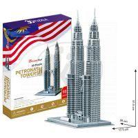 CubicFun 17C084 - Puzzle 3D Petronas Towers - 88 dílků