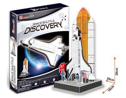 CubicFun 3D Puzzle Raketa Discovery 87 dílků