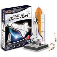 CubicFun  17C601 - Puzzle 3D Raketa Discovery – 87 dílků