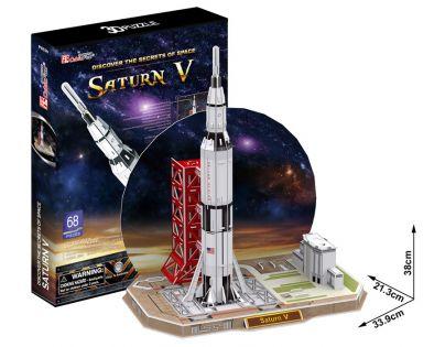 CubicFun 3D Puzzle Raketa Saturn V 68 dílků