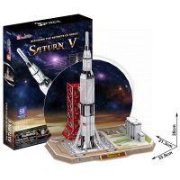 CubicFun  17C653 - Puzzle 3D Raketa Saturn V – 68 dílků