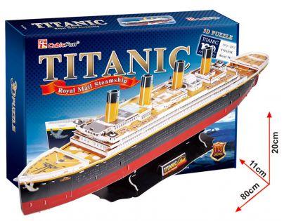 CubicFun  17C4011 - Puzzle 3D Titanic – 113 dílků