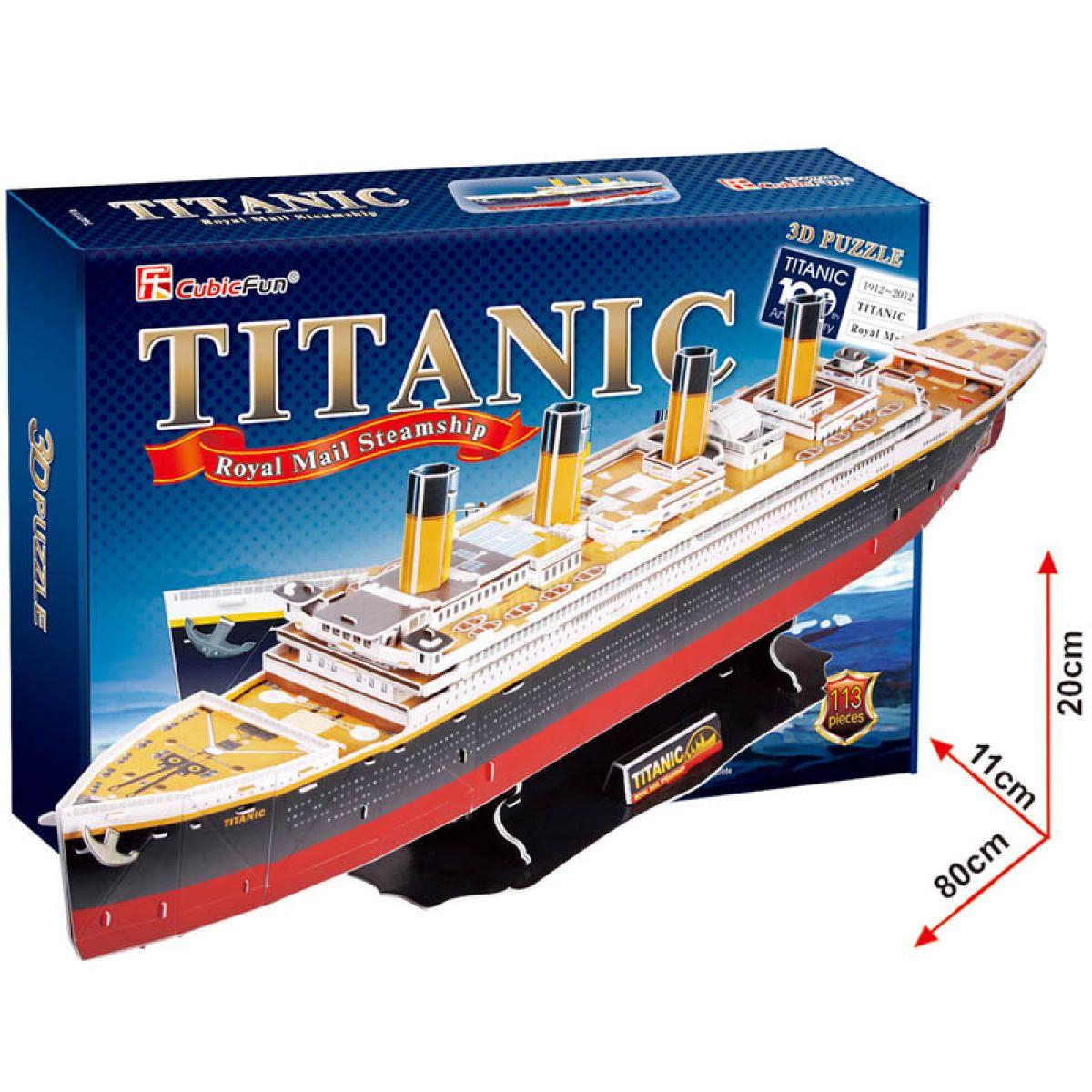 CubicFun 3D Puzzle Titanic 113 dílků