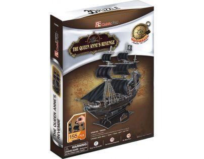 CubicFun Puzzle 3D Válečná loď Queen Anne 155 dílků