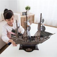 CubicFun Puzzle 3D Válečná loď Queen Anne 155 dílků 3
