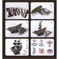CubicFun Puzzle 3D Válečná loď Queen Anne 155 dílků 4
