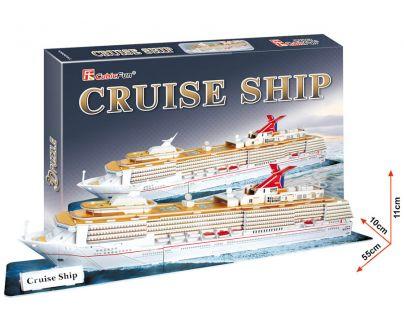 CubicFun 3D Puzzle Výletní loď 66 dílků