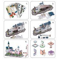 CubicFun Puzzle 3D Zámek Neuschwanstein LED 128 dílků 3