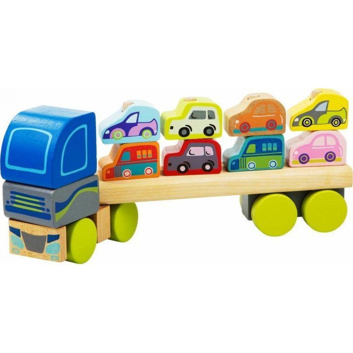 Cubika Kamión s autami drevená skladačka