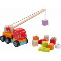 Cubik 13982 Autožeriav s magnetom drevená skladačka