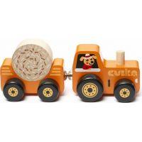 Cubika Traktor s vlekem dřevěná skládačka s magnetem