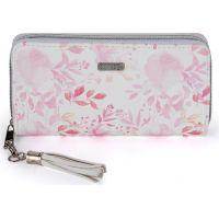 Oxy Lady Dámská peněženka velká Pink flowers