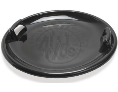 Zábavný talíř na sníh s držadly Průměr 63 cm - Černá