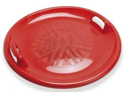 Zábavný talíř na sníh s držadly Průměr 63 cm - Červená