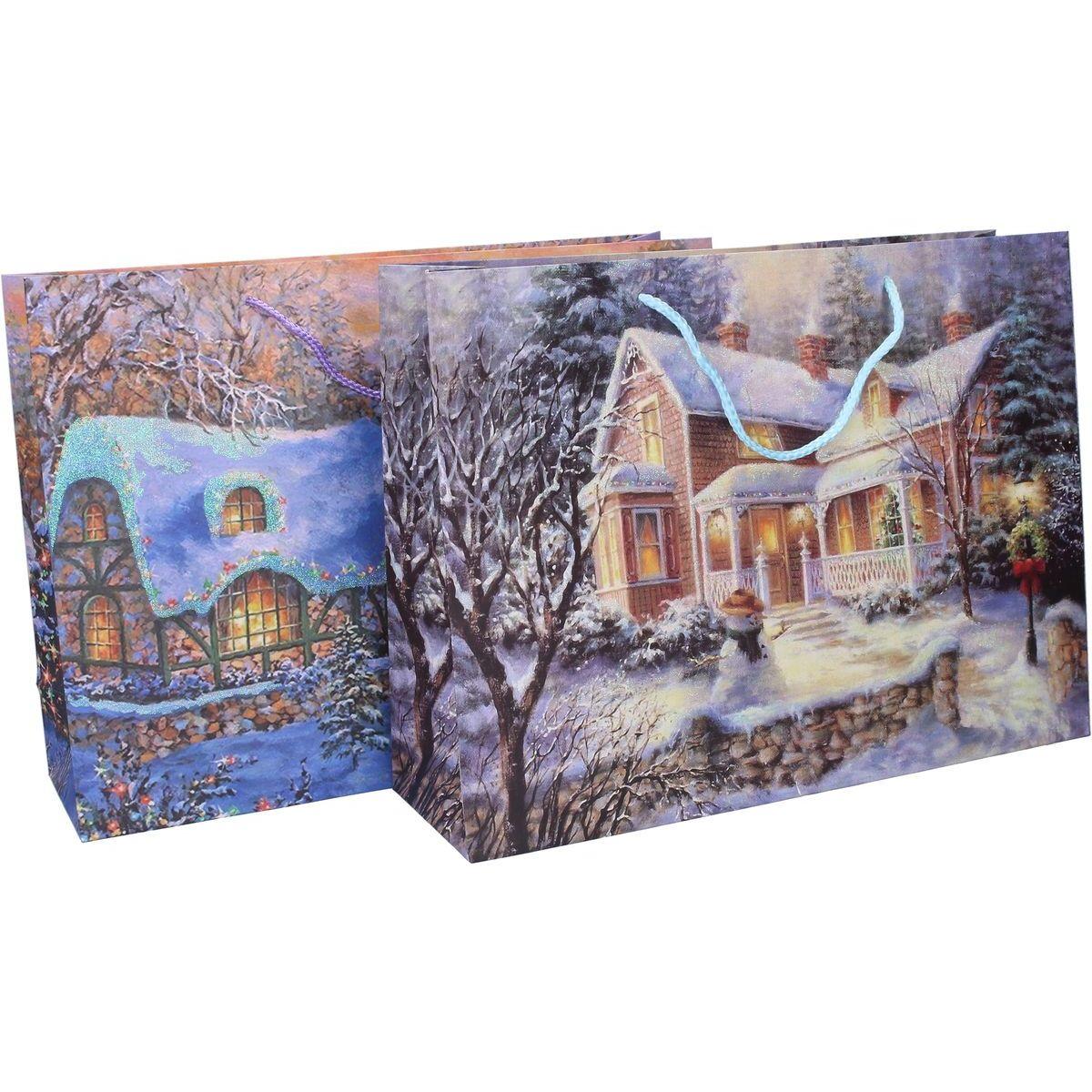 Wiky Dárková taška 40 x 30 x 12 cm Vánoce