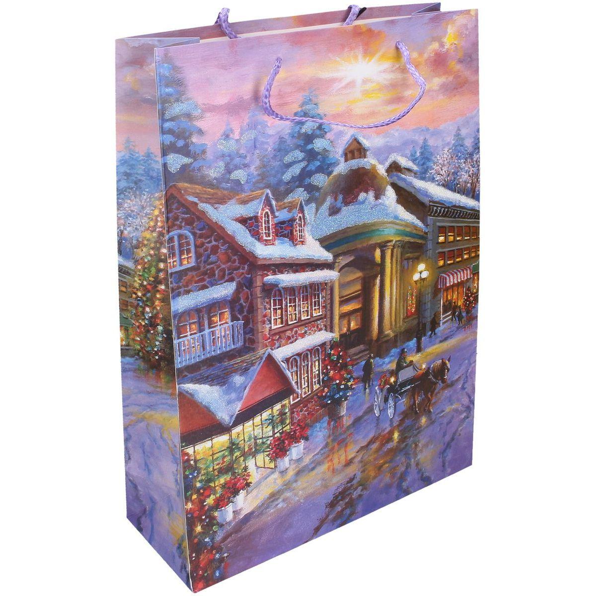 Wiky Dárková taška L 30 x 44 x 12 cm Vánoce náměstí