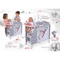 DeCuevas Skládací postýlka pro panenky s 5 funkčními doplňky SKY 2020 3