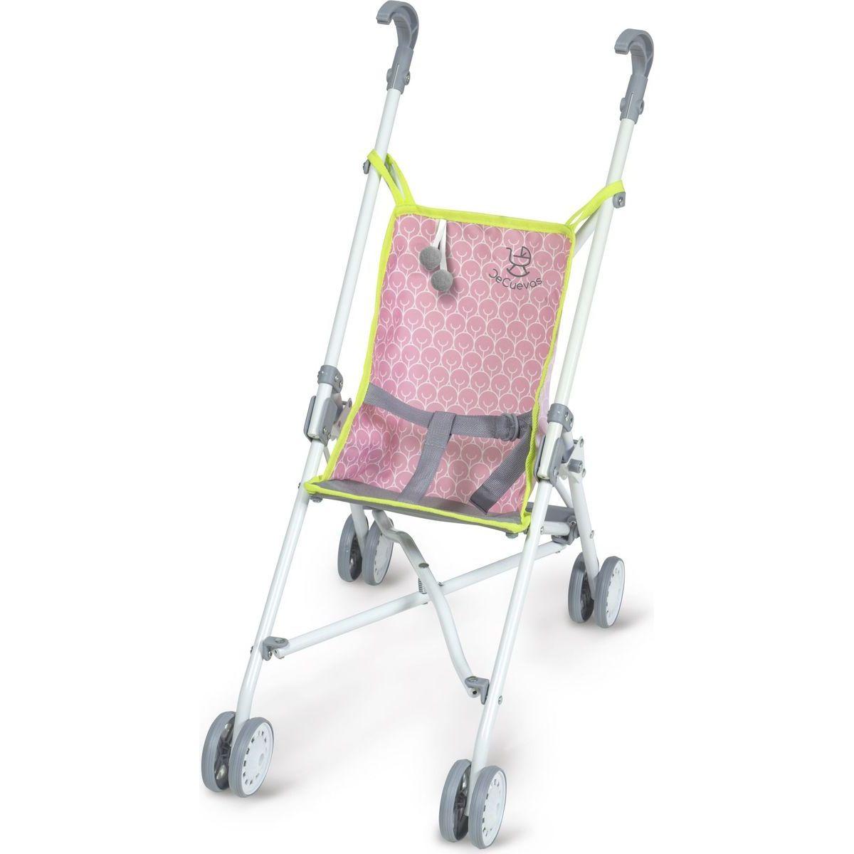 DeCuevas Skládací kočárek pro panenky golfové hole růžové 56 cm