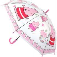 Deštník zvířátka průhledný vystřelovací hrošíci