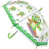 Deštník zvířátka průhledný vystřelovací žabičky