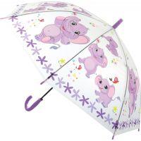 Deštník zvířátka průhledný vystřelovací slůňata