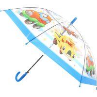 Deštník dopravní prostředky vystřelovací světle modrý