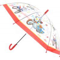 Deštník dopravní prostředky vystřelovací červený