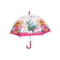 Deštník Tlapková patrola průhledný manuální