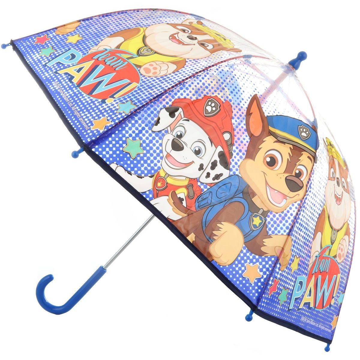 Deštník Tlapková patrola průhledný manuální 46810
