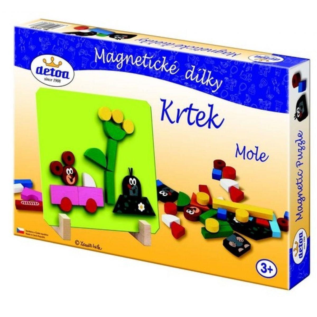 Detoa 13330 - Magnetické puzzle Krtek