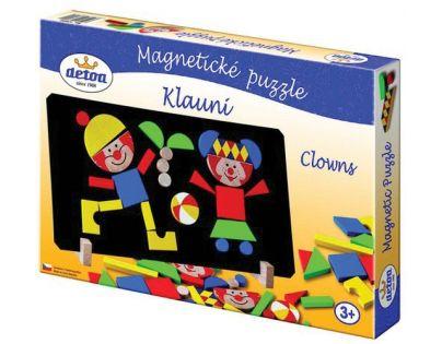 Detoa 12666 - Magnetické puzzle Klauni