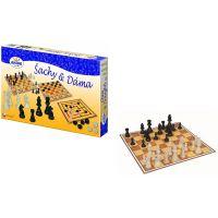 Detoa Šachy a dáma dřevěné provedení