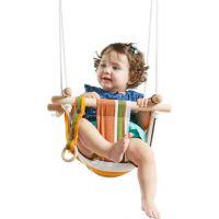 Dvěděti Dětská textilní houpačka bavlněná pruhovaná